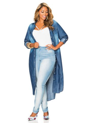 Dark Wash Denim Duster Dark Wash Denim Duster...Love This Duster!!!
