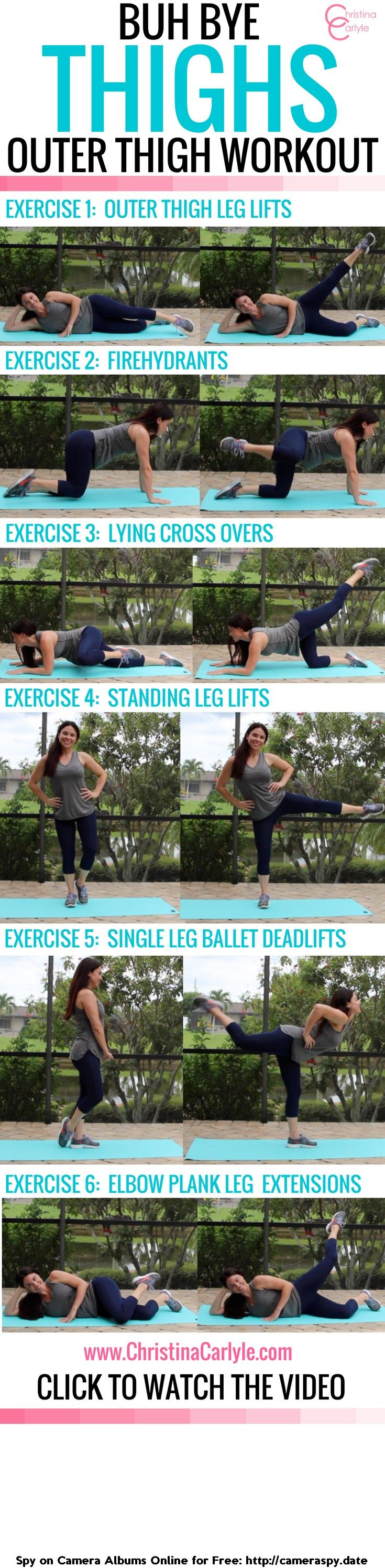 Do your thighs make you self-conscious? If so, you#39;re going to love the thigh Exercises in this Outer Thigh Workout for women. They really work!