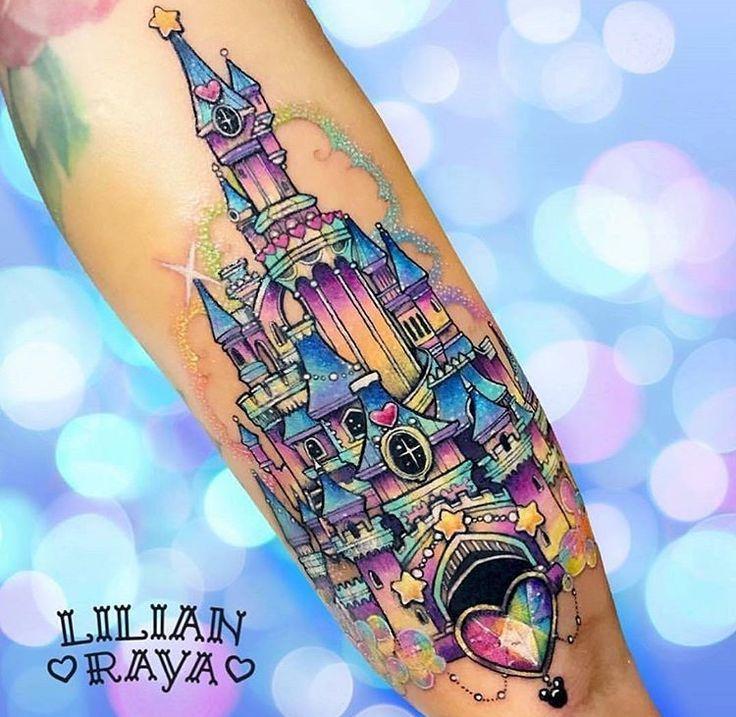 Pastel Glitter Rainbow Disney Castle Act … – #Burg #Disney #DisneyTattooIdeas #Glitzer #Pastell