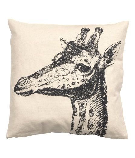 Check this out! Cushion cover in cotton fabric with a printed motif. Concealed zip. - Visit hm.com to see more.