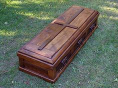 You can find anything for sale on the internet! Beautiful handmade wood casket for sale! But not by me!