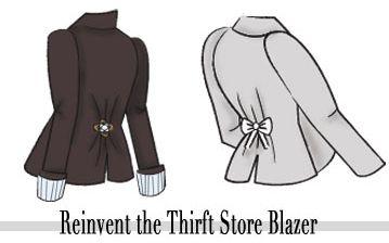 Reinvent the thrift store blazer