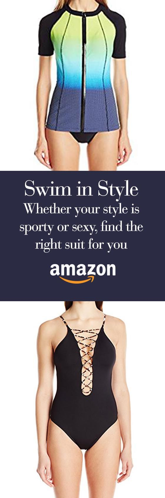 Summer sunbathing, winter holiday, or lap swim--Amazon has a suit for you.