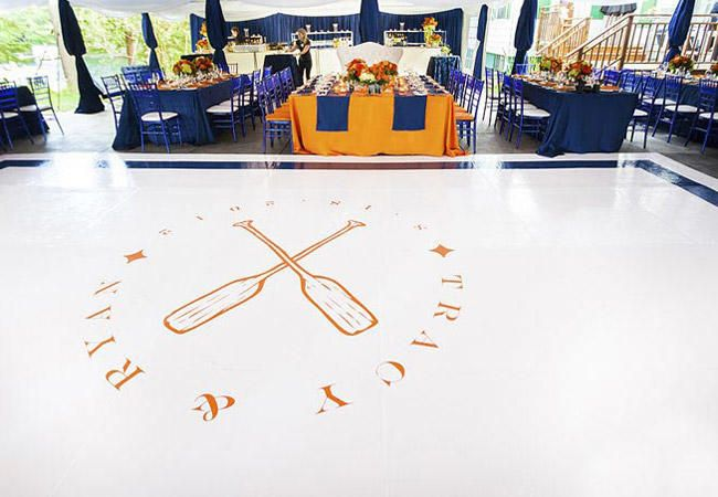 13 Ways to Customize Your Dance Floor | Photo by: Photo: Rowell Photography | TheKnot.com