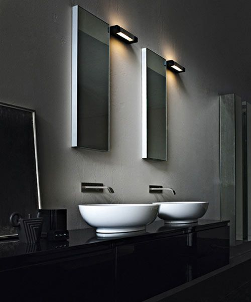 Nemo ara parete wall light ara halo in champagne finish for Bathrooms direct