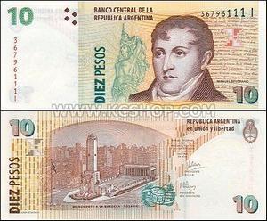 Argentina 2003 10 Pesos
