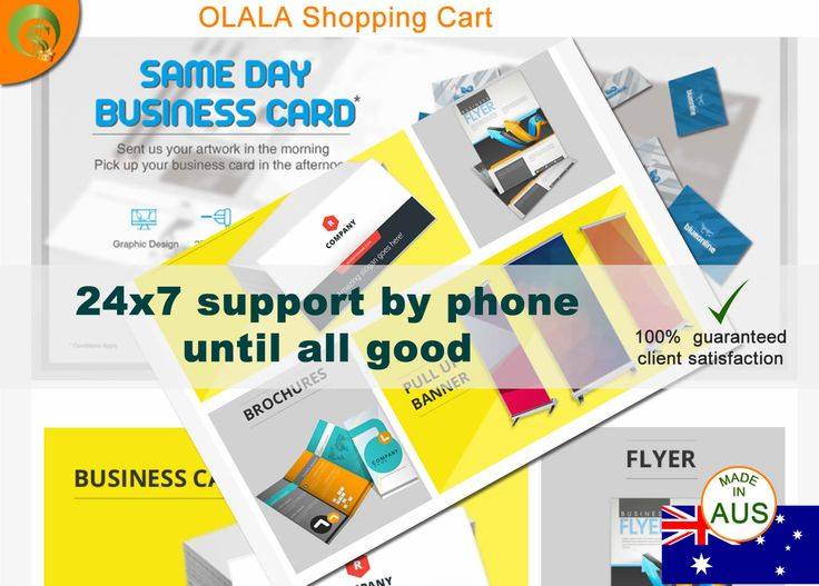 OLALA Cart supports clients artworks and this months will be used in production by a new client, service provider from Advertising / Printing.