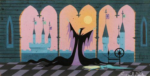 Eyvind Earle: Sleeping Beauty, Disney Sleep, Eyvind Earl Malef, Concept Art, Eyvindearl, Eyvind Earl Sleep Beautiful, Disney Art, Beautiful 1959, Beautiful Concept