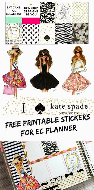 BelindaSelene: Free Kate Spade Inspired Printable Stickers