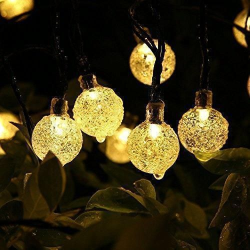 Oferta: 12.99€ Dto: -68%. Comprar Ofertas de Solar Luz Cadena 30 luces LED 6.4 m Jardín Globe Cristal exterior solar bola iluminación para Fiesta Navidad Exterior Bodas F barato. ¡Mira las ofertas!
