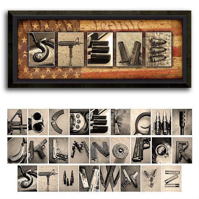 33 best images about father39s day gift ideas on pinterest With gun letter art
