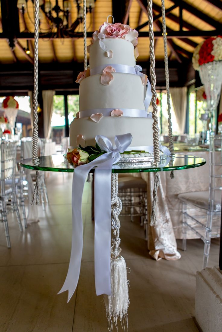 cake Swing so unique  Wedding reception was held at Zimbali Country Club www.zimbali.com  Photo was done by Barry Bowditch photography http://bowditch.co.za/