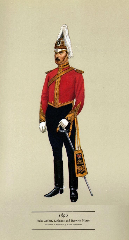 British; Lothian & Berwick Horse, Field Officer, 1892
