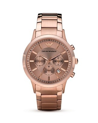Emporio Armani Sport Rose Gold Plated Watch, 43mm
