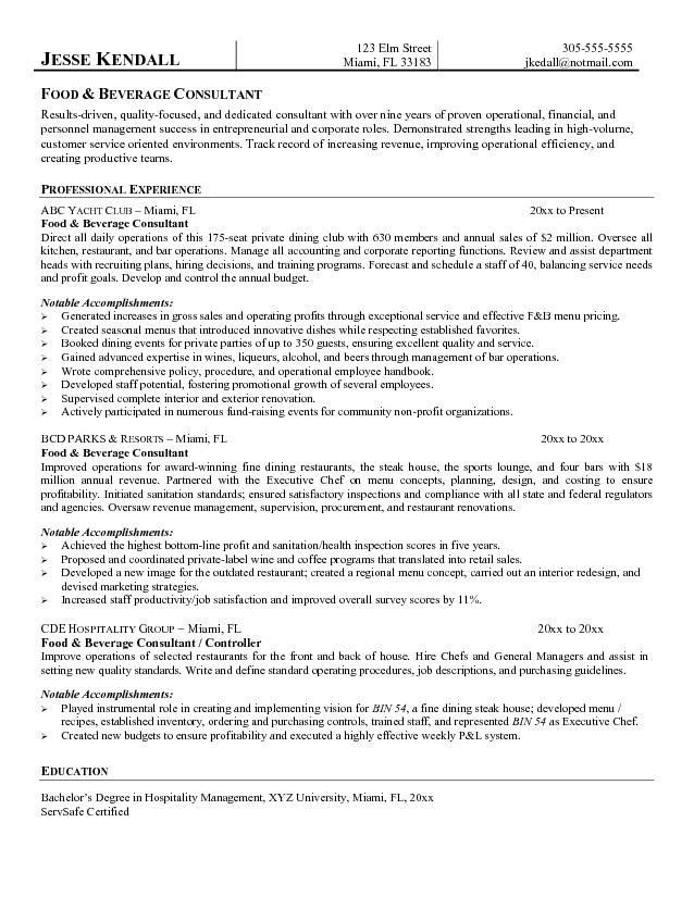 Chef Resume Sample Chef Resume Chronological Resume Template