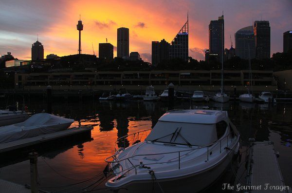 Sunset over the wharf