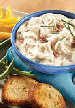 Bacon-Horseradish Dip – This easy zesty dip for crackers makes the perfect party appetizer.