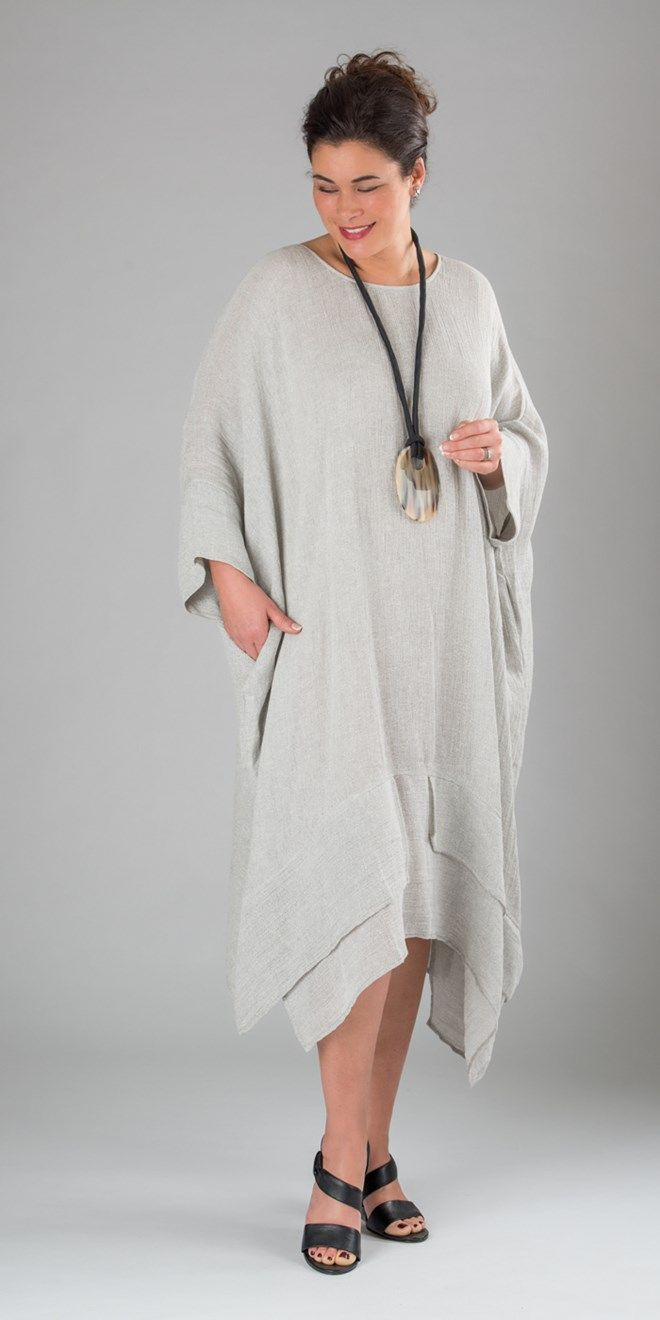 Thanny natural linen dress and necklace at Box 2