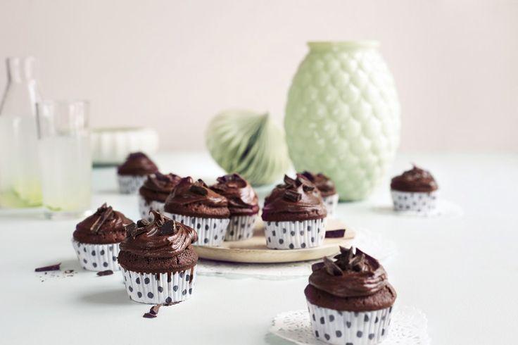 Glutenfrie sjokolademuffins
