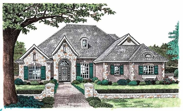 Eplans French Country House Plan Gothic Entry 2279