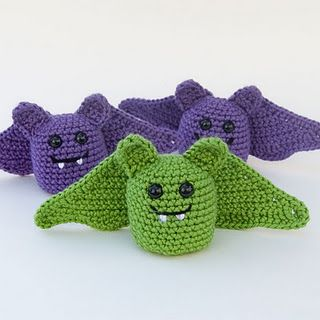 Some of the cutest little crochet creatures.  Some of her patterns are available for sale and some for free.