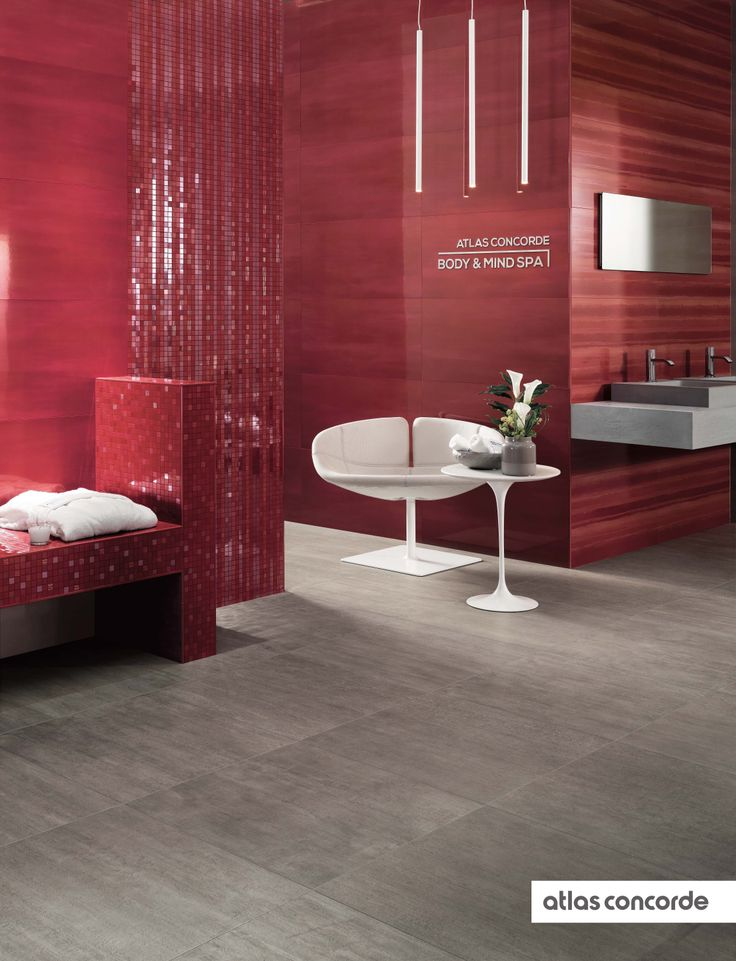 #MARK cherry and chrome | #Wall design | #AtlasConcorde | #Tiles | #Ceramic