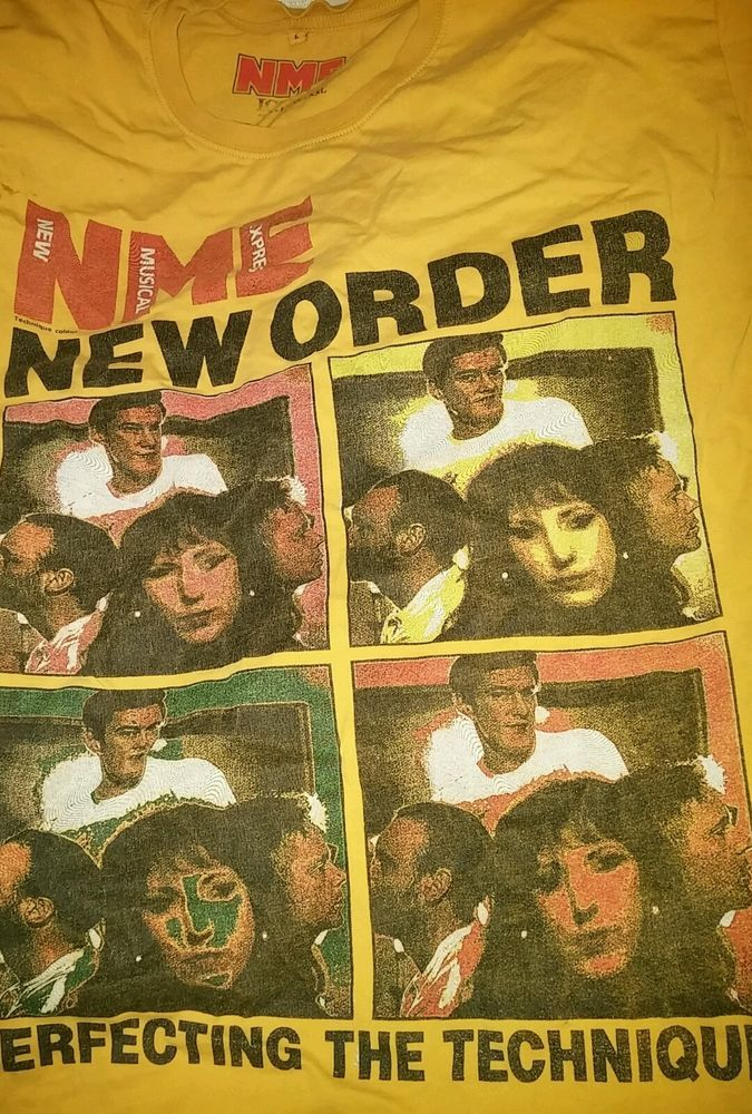 New Order Technique RARE vintage Shirt NME classic scarce 89 New Order tour in Clothing, Shoes & Accessories, Vintage, Unisex & T-Shirts | eBay
