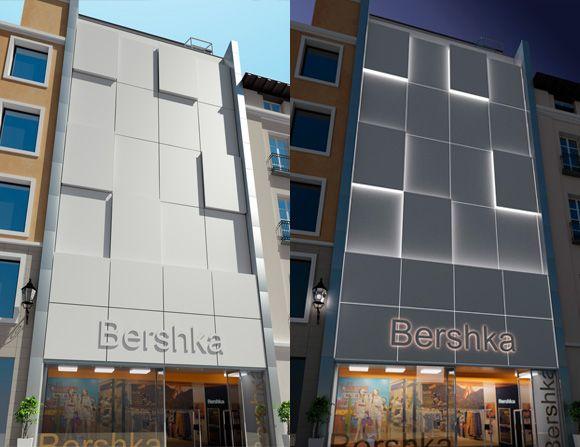 Fachada ventilada de bershka en estambul realizada en - Porcelanosa en madrid ...