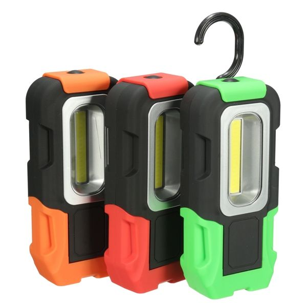 LED Magnet Torch Camping Lamp Hooking Flashlight Emergency Inspection Work Light