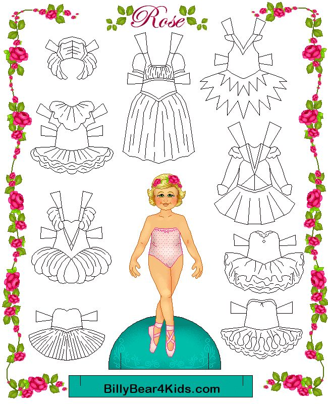 Paper Doll Gif Ballerina Paper Doll Template