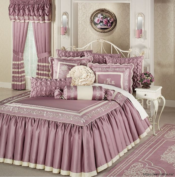 Текстиль в спальне. Шикарные идеи (41) (693x700, 419Kb)
