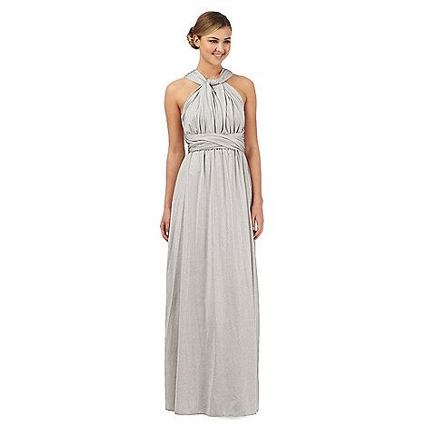 This beautiful silver dress from Debut has been designed in a versatile  multiway style to suit