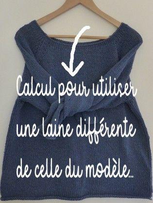 COMMENT ADAPTER UN TRICOT AVEC UNE LAINE DIIFERENTE – Mes tricots sans couture aux aiguilles circulaires et en top-down