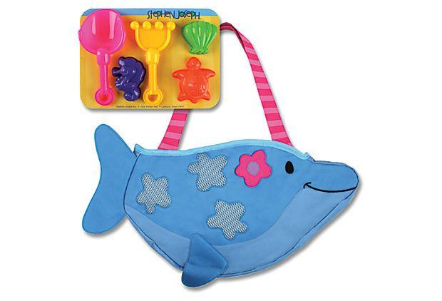 Kids' Dolphin Beach Tote, Blue on OneKingsLane.com