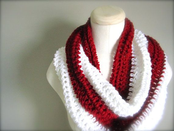 Crochet Red and White NHL NFL Hockey Football by craftsbybeck, $20.00