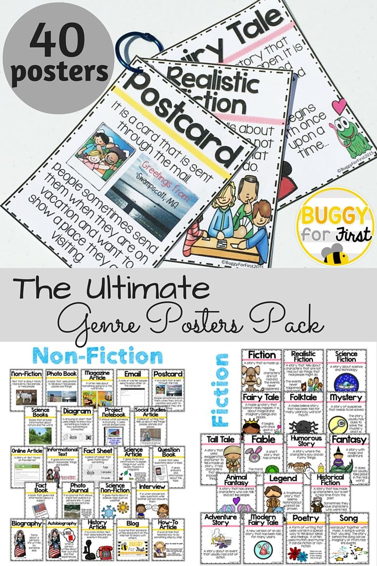 Worksheets Genre Worksheets 41 best genre posters images on pinterest reading fiction and non pack 50 posters