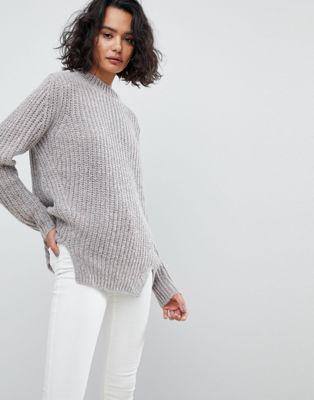 AllSaints Oversized Metallic Sweater