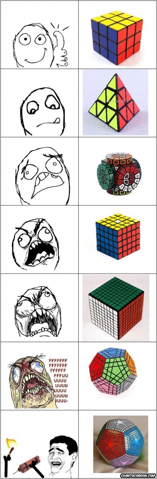 No puedo hacer ni el de 3x3 - Lo del #cubo de #Rubik se nos ha ido por completo de las manos