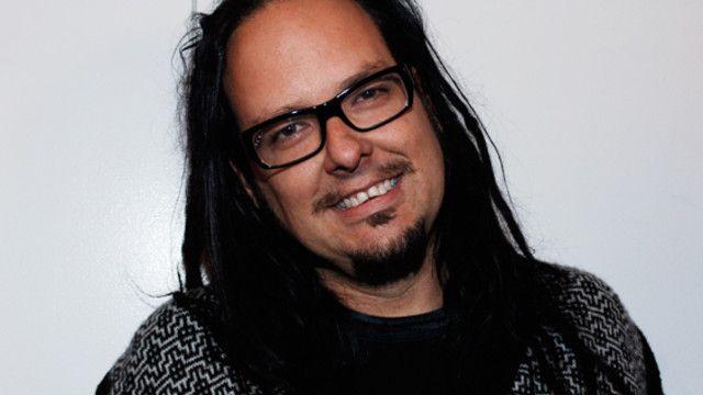 Jonathan Davis of Korn with Sasha Banks and Byron Saxton