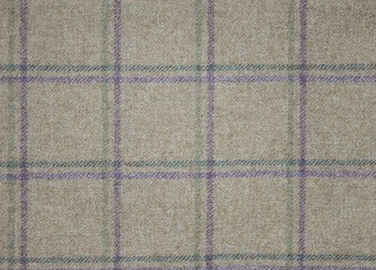 Ligth Taupe Tartan Fabric | Woodford Check Fabric by Sanderson
