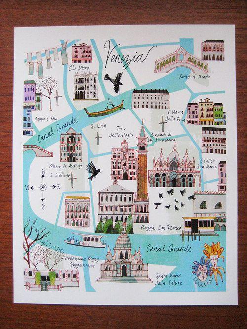 Venice Map por josieportillo en Etsy