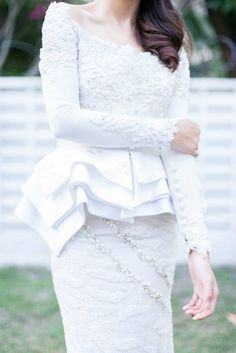 mimpi kita peplum wedding dress