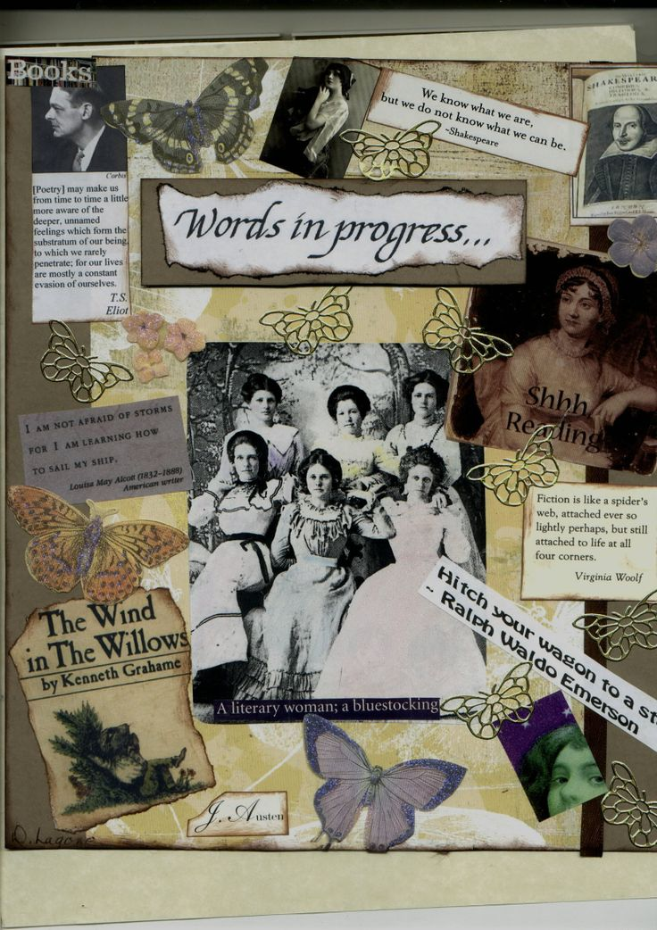 """This is a cover to an Anthology I created along with a member of my writing group Ann Clark she did the calligraphy. The group was called  """"Words in Progress"""" and still meets every Wednesday 1:30 pm at Schenectady Public Library"""