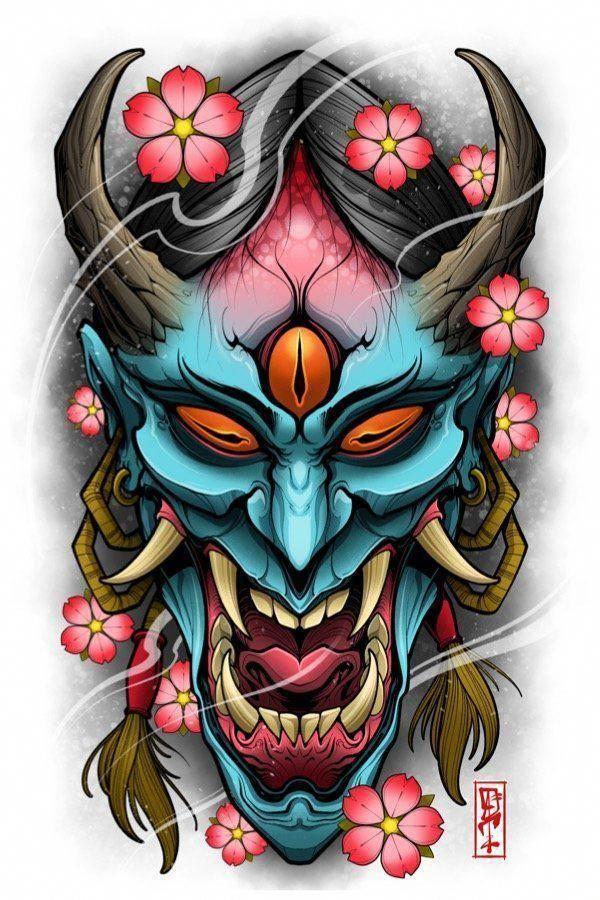 Japanese With Tattoos Japanesetattoos Japanese Mask Tattoo Japanese Tattoo Sleeve Tattoos