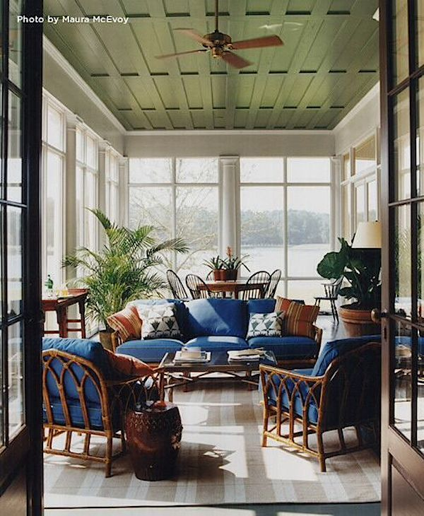 Thomas Jayne screened porch via 1stDibs