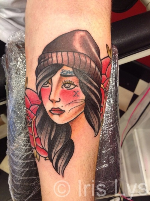 sXe girl done at East Side Tattoo