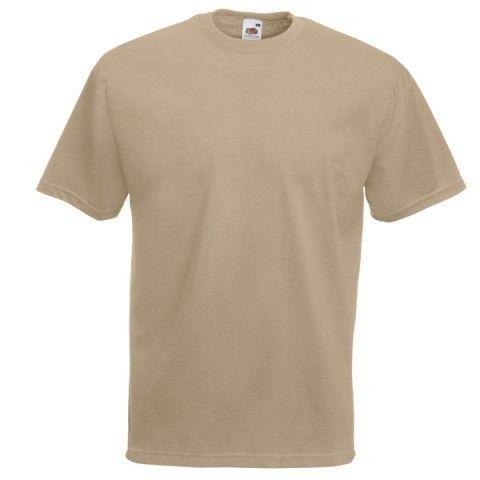 """T-shirts, blank of met zelf te ontwerpen opdruk Standaard bedrukken wij aan de voorzijde.  Fruit of the Loom  s' werelds meest bekende kledingmerk!   Het vrolijke karakter van dit logo is zeker terug te zien in de collectie.   Het """"Screenstar"""" T-Shirt is het oudste en nog steeds bekendste T-Shirt. De """"Valueweight"""" serie sluit meer aan op de behoefte en wensen van vandaag de dag."""