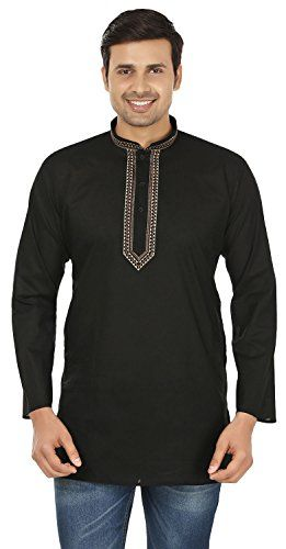 Maple Clothing Cotton Mens Short Kurta Shirt Embroidered Indian Dress.  #ClothingFashion Elegant stitched short kurta t shirt in fine quality cambric cotton material, ethnic males's wear from India. Loosened comfy installation makes it a great party wear. These kurtas are used in both summer and also winter. Dry clean advised for the first time laundry and after that can be...   Read the rest of this entry » http://internetinfomedia.com/maple-clothing-cotton-mens-sho