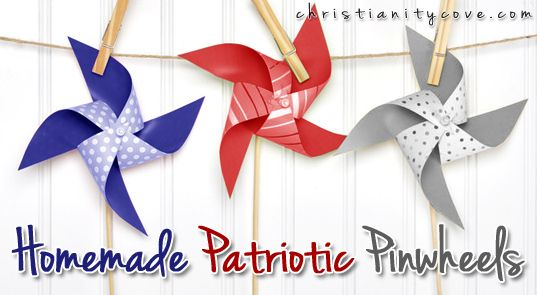 homemade patriotic pinwheels
