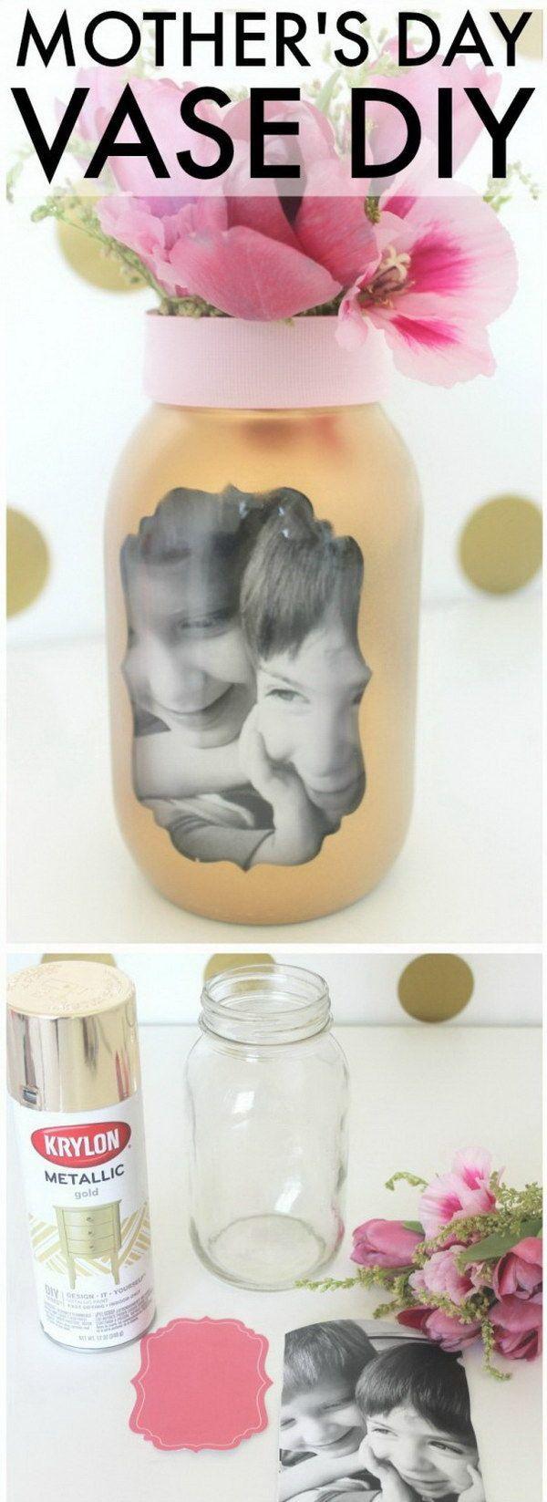 Easy Mother's Day Photo Vase.